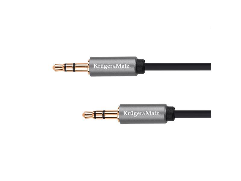 Kabel KRUGER & MATZ JACK 3.5 konektor/JACK 3.5 konektor 1m KM1226 Basic