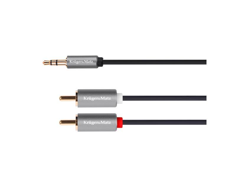 Kabel KRUGER & MATZ JACK 3.5 stereo/2xCINCH 5m KM1217 Basic