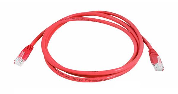 Kabel UTP 1x RJ45 - 1x RJ45 Cat5e 0.5m RED LTC LX8357