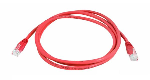 Kabel UTP 1x RJ45 - 1x RJ45 Cat5e 3m RED LTC LX8357