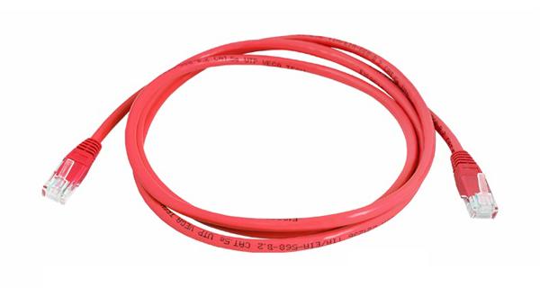 Kabel UTP 1x RJ45 - 1x RJ45 Cat5e 5m RED LTC LX8357