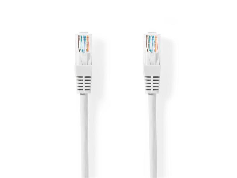 Kabel UTP 1x RJ45 - 1x RJ45 Cat5e 0.5m WHITE NEDIS CCGT85100WT05