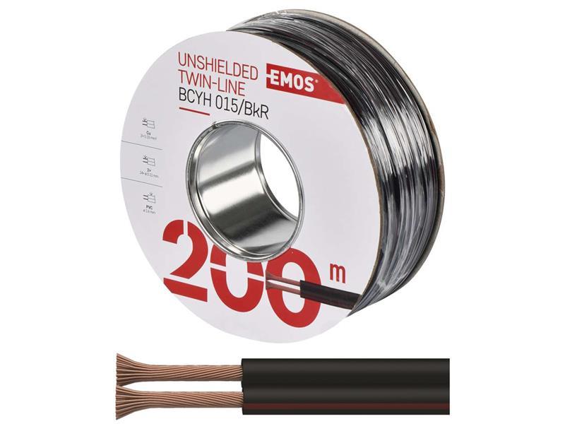 Dvojlinka nestíněná 2x0,15mm černo/rudá