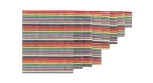 Vodič plochý 50 žilový barevný 30,5m