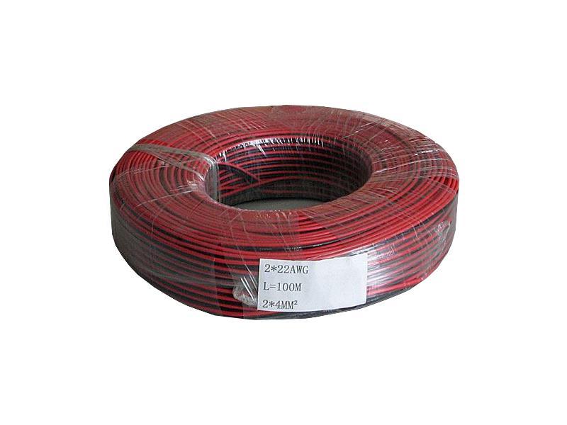 Dvojlinka nestíněná 2x0,35mm červeno/černa (1ks = 100m)