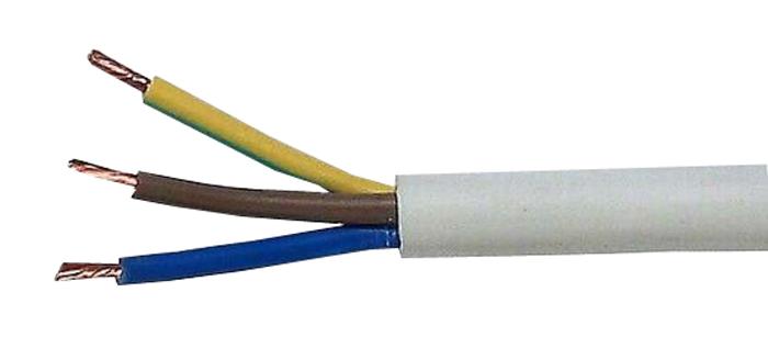 Kabel 3x0,75mm2 kulatý 230V H05VV-F (CYSY)