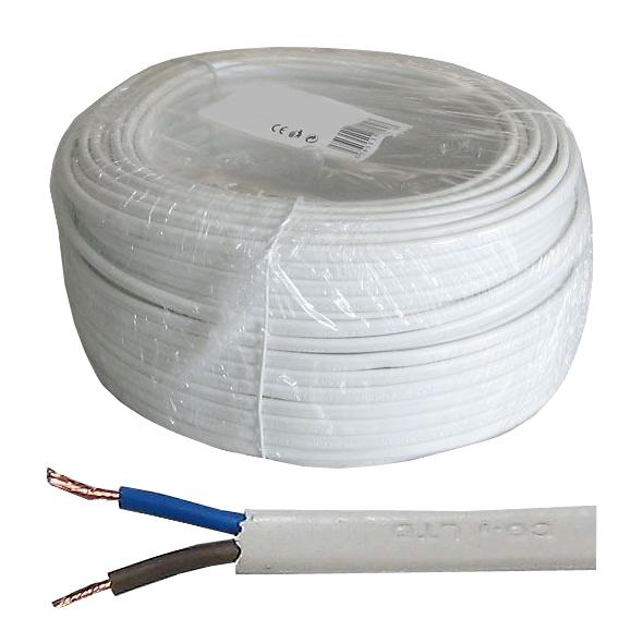 Dvojlinka 2x0,5mm2 plochá H05VVH2-F (CYLY 2x0,5), balení 50m