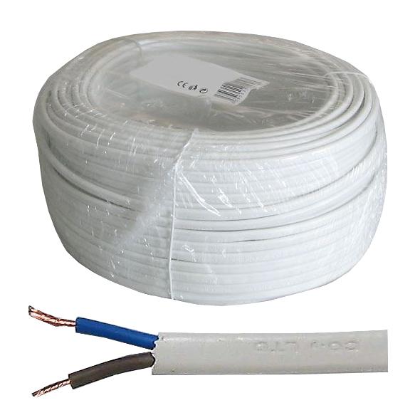 Dvojlinka 2x0,75mm2 plochá 230V H03VVH2-F (CYLY 2x0,75) balení 50m