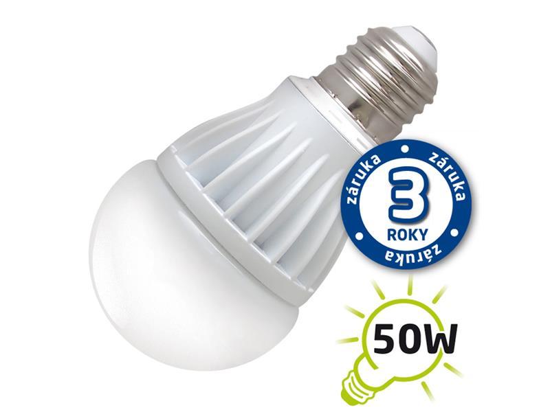 Žárovka LED A60 E27  7W bílá teplá (Al) TIPA