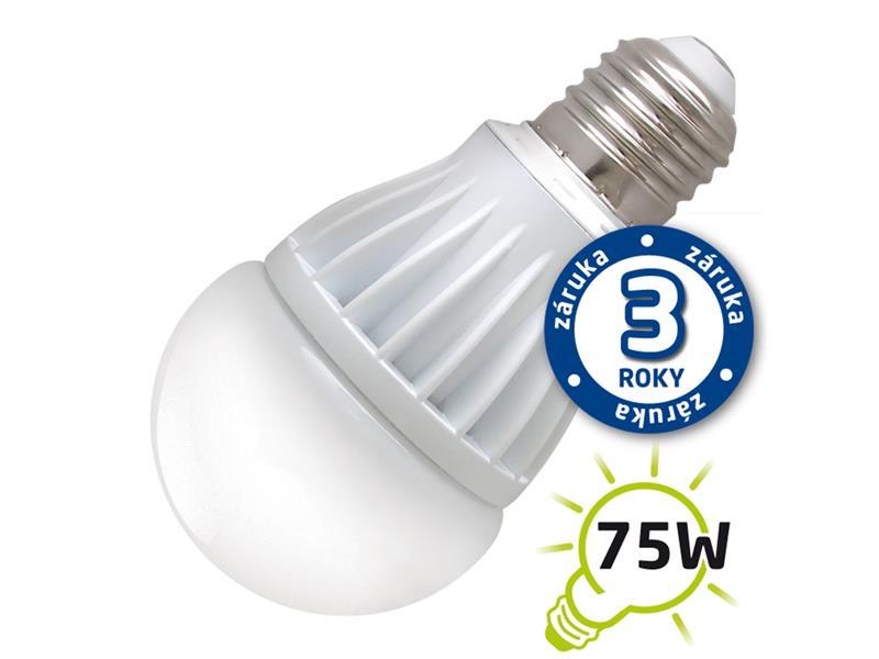 Ecolite LED žárovka E27 230V, 12W 3000K A60 - teplá bílá 3846
