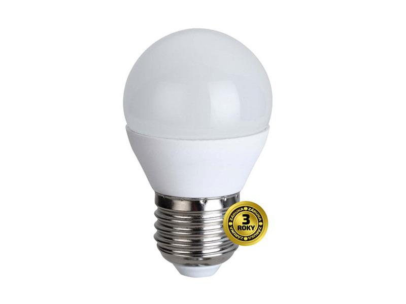 Žárovka LED E27  4W G45 bílá teplá SOLIGHT WZ411