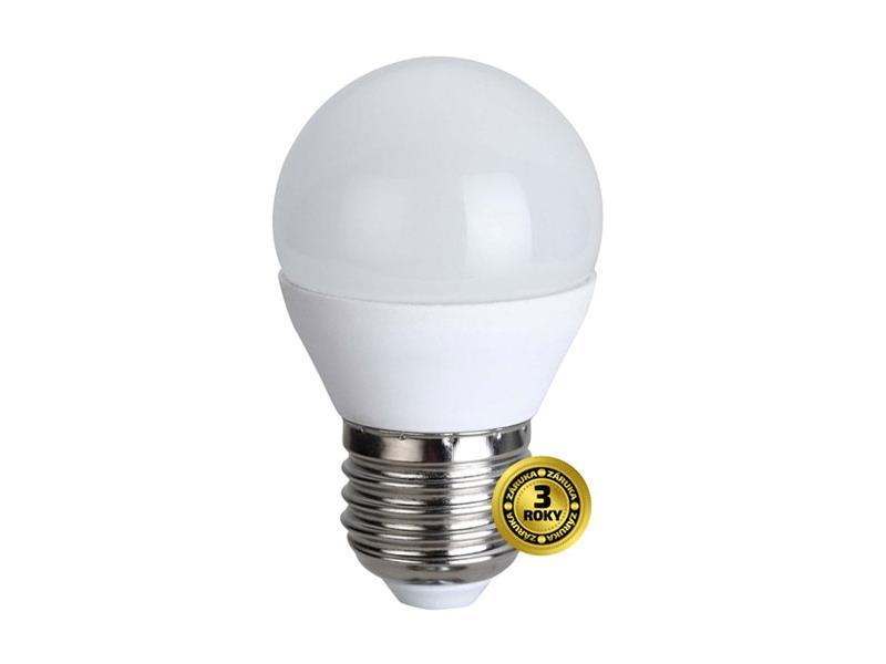 Žárovka LED G45 E27 6W bílá teplá SOLIGHT WZ412