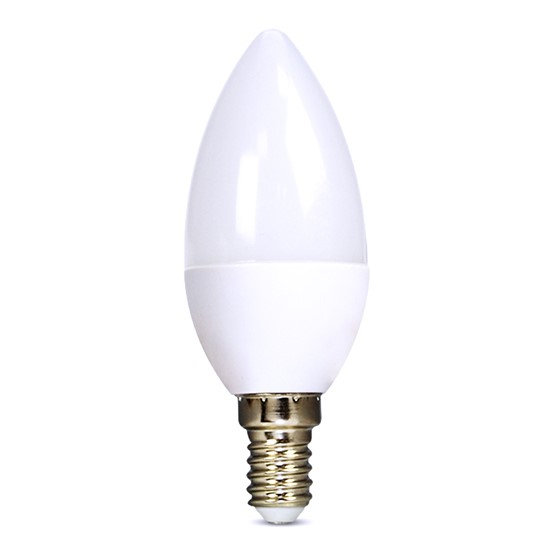 Bulb LED E14  6W C37 white natural SOLIGHT WZ410