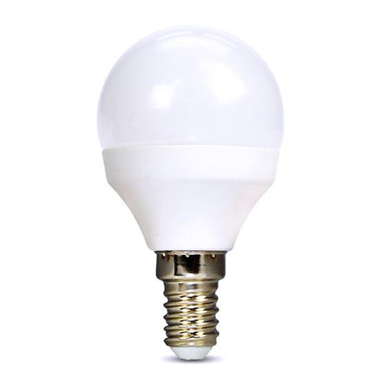 Solight LED žárovka, miniglobe, G45, 4W, E14, 3000K, 310lm, bílé provedení