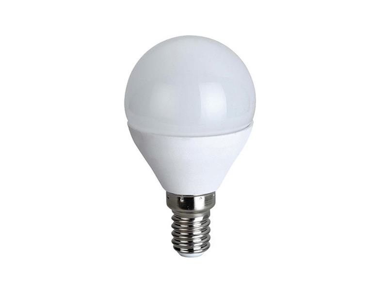 Žárovka LED E14  6W G45 bílá přírodní SOLIGHT WZ417