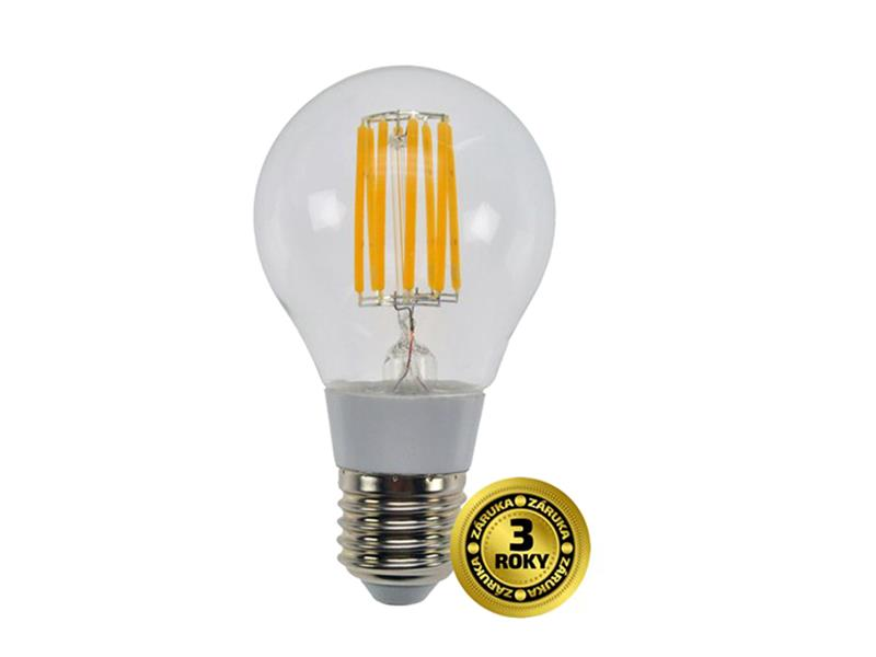 Solight LED žárovka WZ501 retro, klasický tvar, 8W, E27, 3000K, 360°, 750lm