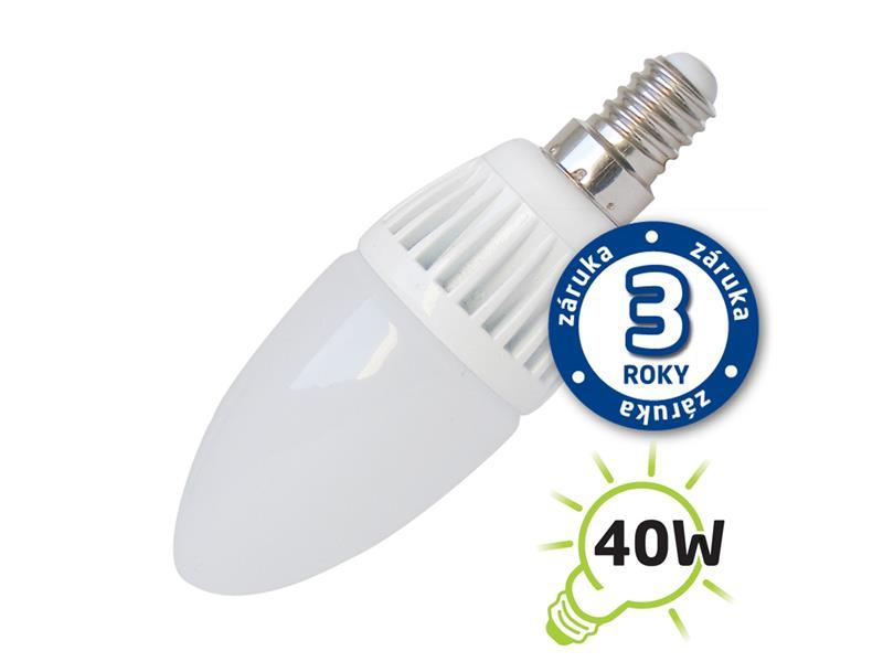 Žárovka LED E14  5W C37 bílá přírodní TIPA