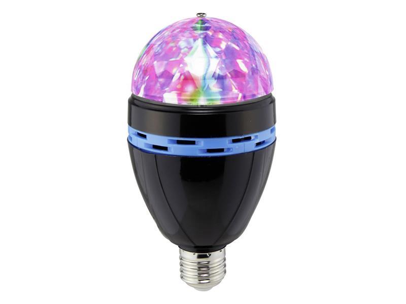 RGB LED žárovka Light Party, E27, černá