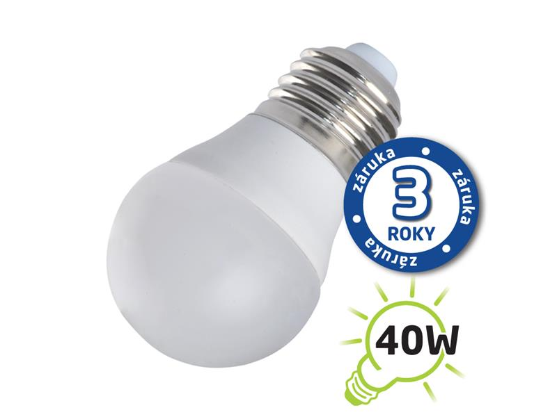 Žárovka LED G45 E27/230V 5W (Pc) - bílá teplá (záruka 3 roky) TIPA