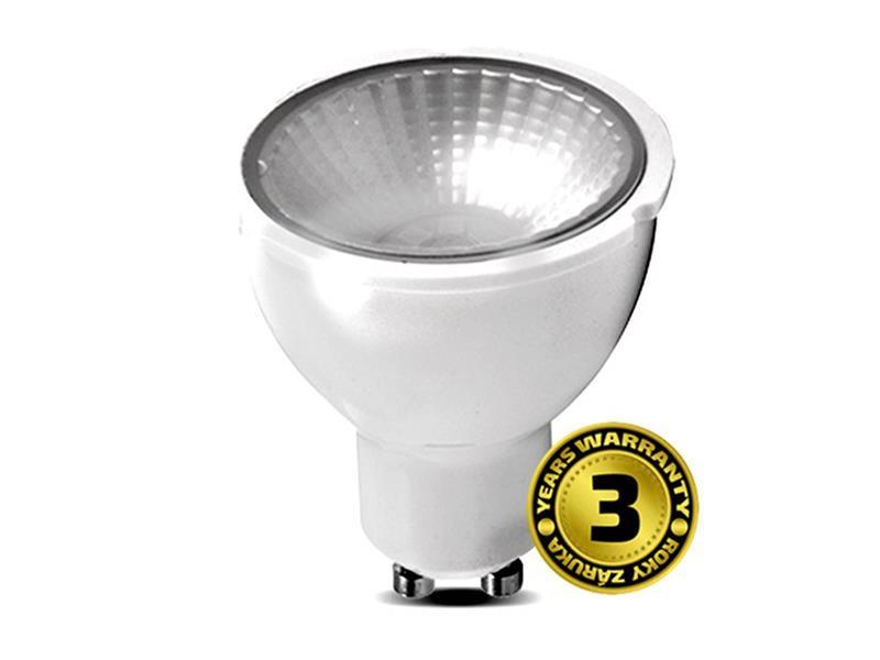 Žárovka LED SPOT GU10 5W bílá teplá SOLIGHT se stmívačem