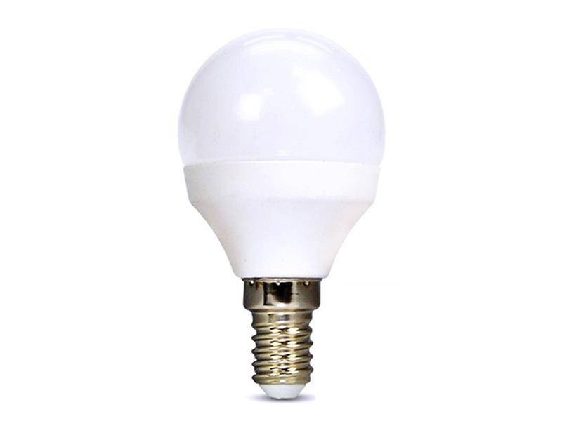 Žárovka LED G45 E14 6W bílá studená SOLIGHT