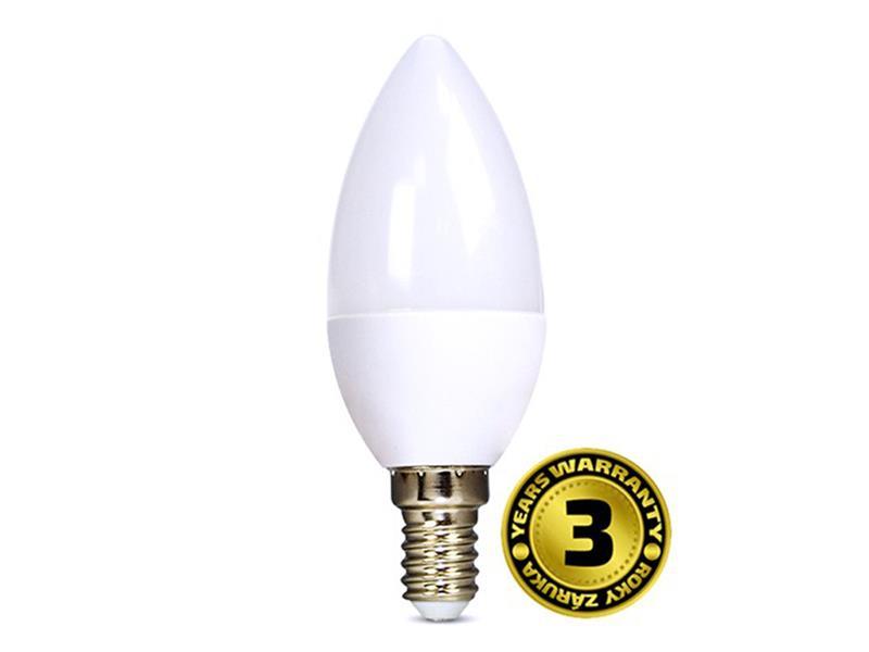 Žárovka LED E14  6W C37 bílá studená SOLIGHT WZ421