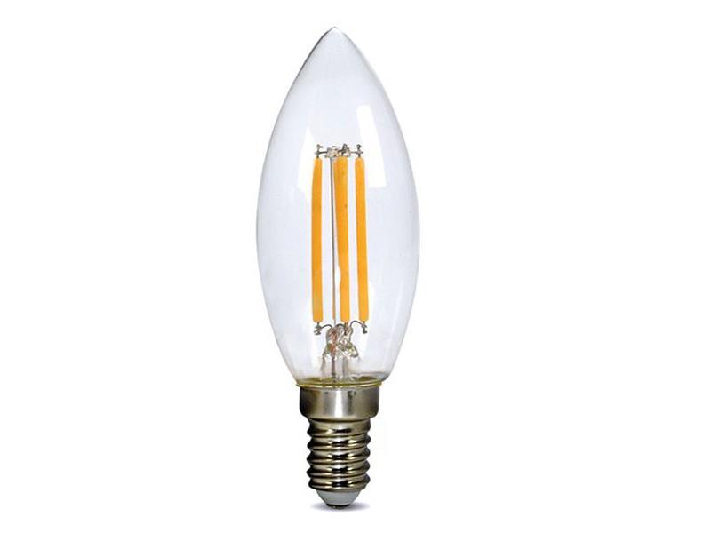 Žárovka Filament LED E14 4W C37 teplá bílá SOLIGHT WZ401A