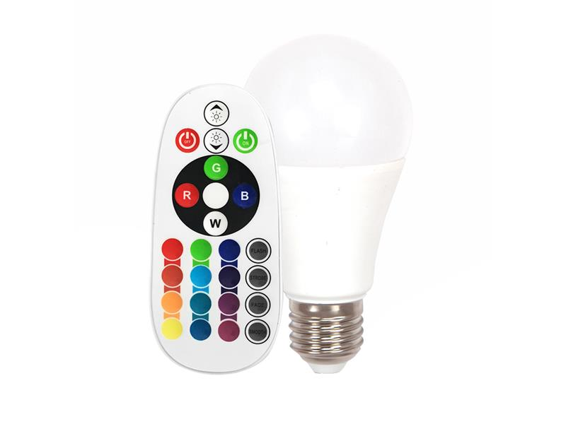Žárovka LED E27  6W A60 teplá bílá RGB