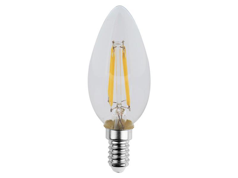 Žárovka LED svíčka E14 4W RETLUX RFL 220 teplá bílá, filament