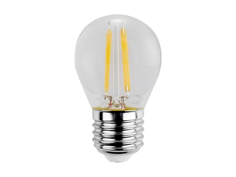 Žárovka Filament LED E27 4W miniGLOBE teplá bílá RETLUX RFL 221