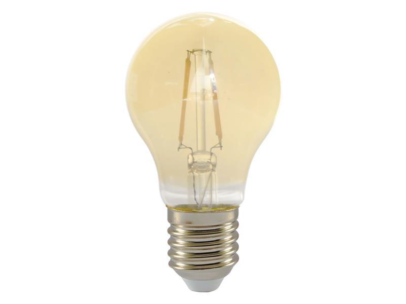Žárovka Filament LED E27 4W A60 teplá bílá RETLUX RFL 224 Amber