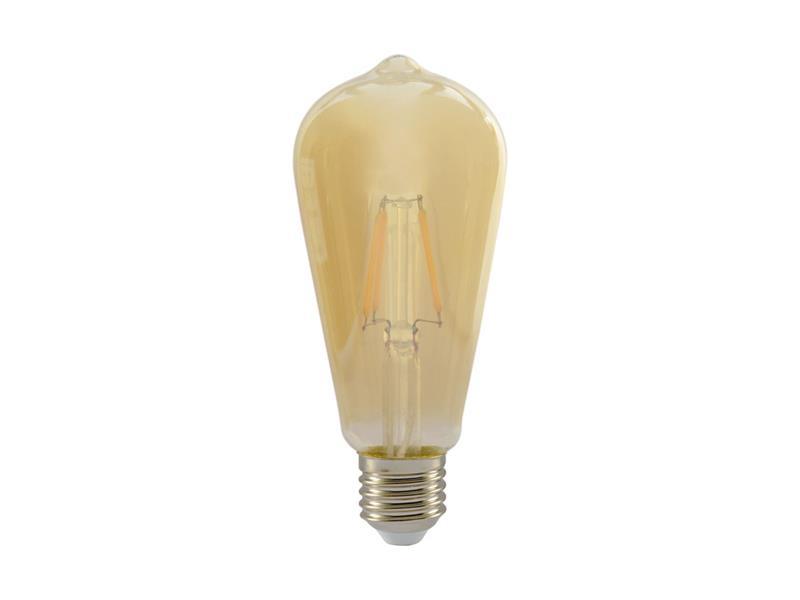Žárovka Filament LED E27 4W ST64 teplá bílá RETLUX RFL 226 Amber