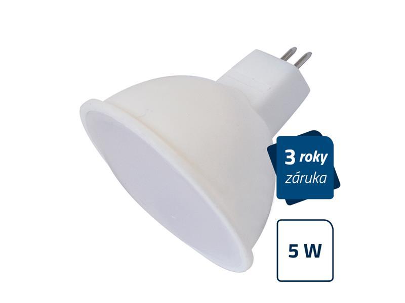 Žárovka LED MR16 5W SPOT bílá teplá GETI