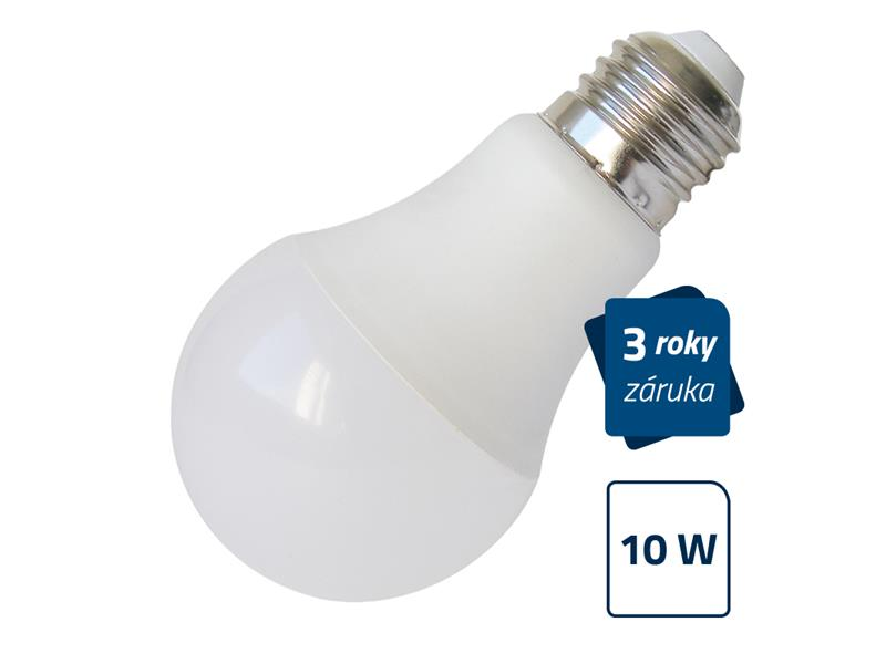 Žárovka LED E27 10W A60 bílá GETI