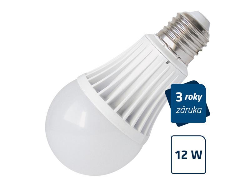 Žárovka LED E27 12W A60 bílá teplá GETI