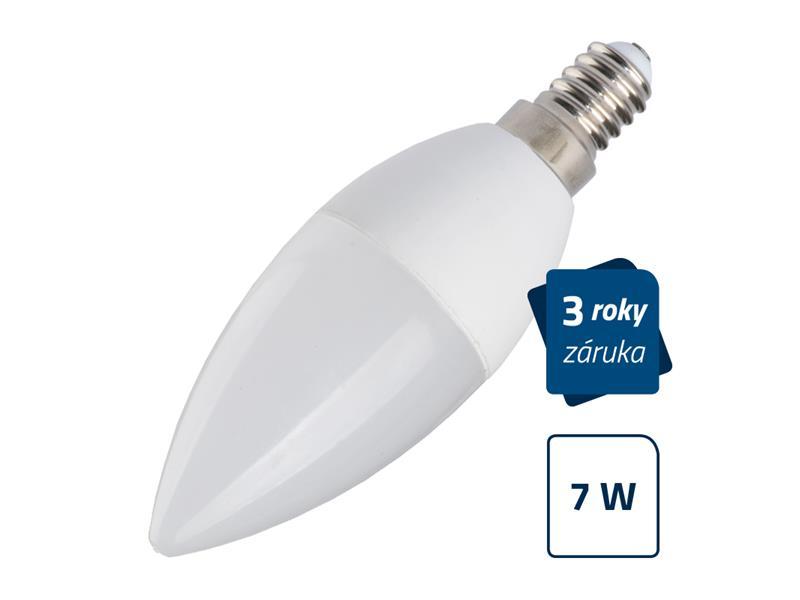 LED žárovka Geti C37, E14, 7W, bílá teplá