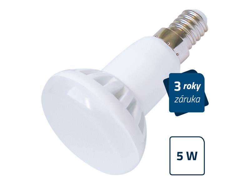 Žárovka LED E14  5W R50 bílá teplá GETI