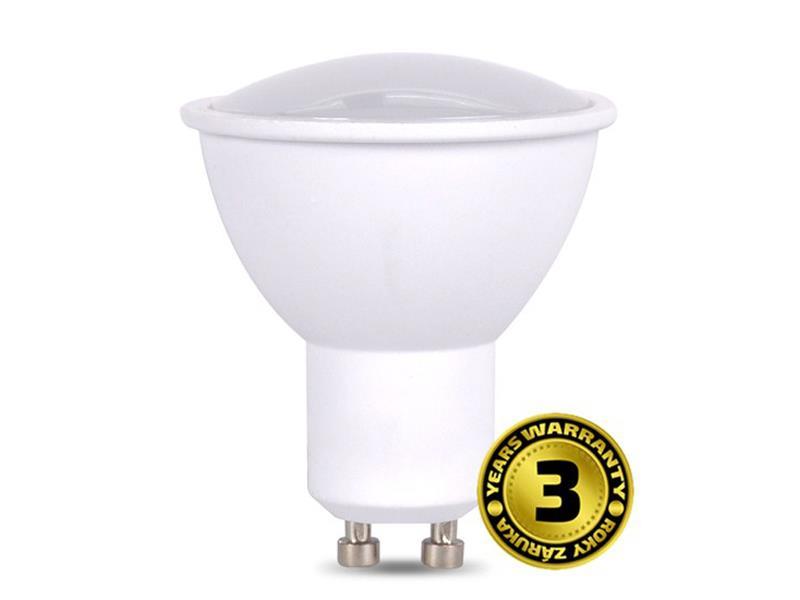 Žárovka LED SPOT GU10 7W bílá teplá SOLIGHT WZ318A