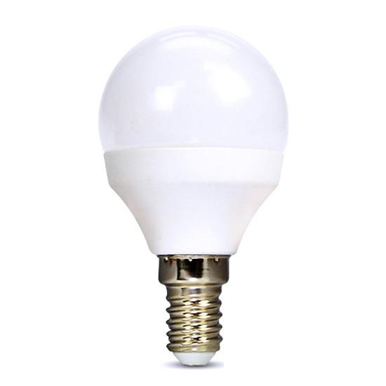 Žárovka LED E14  8W miniGLOBE bílá teplá SOLIGHT WZ425