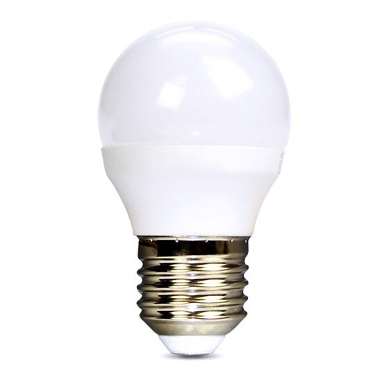 Žárovka LED E27  8W miniGLOBE bílá teplá SOLIGHT WZ424