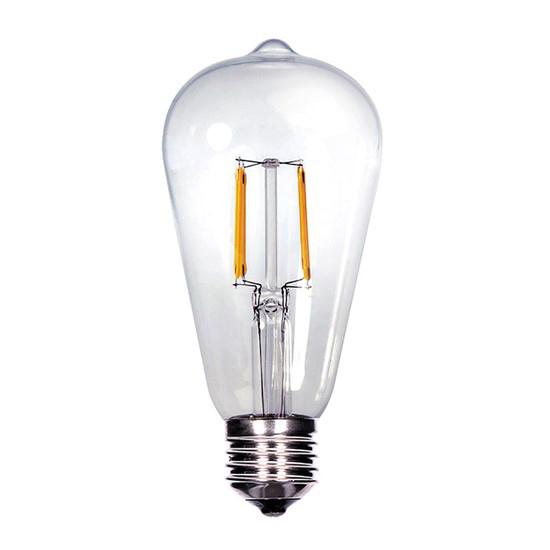 Žárovka Filament LED E27 8W ST65 teplá bílá SOLIGHT WZ526