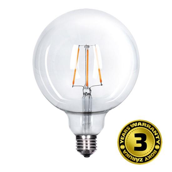 Solight Žárovka LED WZ523 E27, 230V, 8W, 810lm, teplá bílá, Globe retro