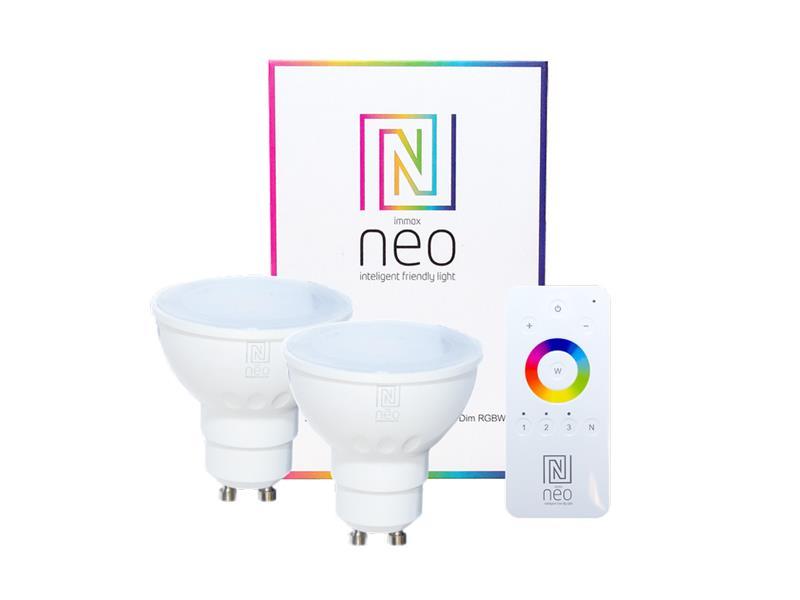 Žárovka LED GU10 3.5W RGBW IMMAX NEO 07006BD ZIGBEE DIM 2ks + dálkový ovladač
