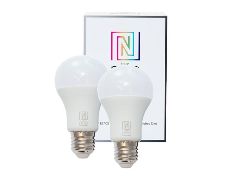 Žárovka LED E27 8.5W bílá teplá IMMAX NEO 07001B ZIGBEE DIM 2ks