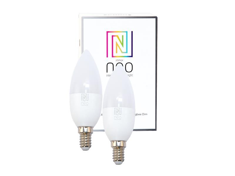 Žárovka LED E14 5W bílá teplá IMMAX NEO 07002B ZIGBEE DIM 2ks