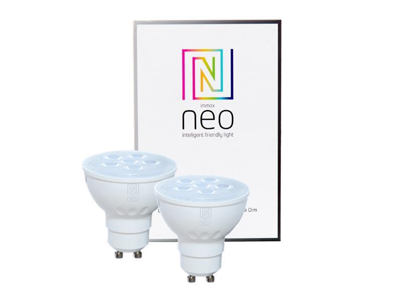 Žárovka LED GU10 4.8W bílá teplá IMMAX NEO 07003B ZIGBEE DIM 2ks