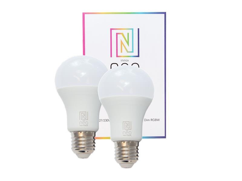 Žárovka LED E27 8.5W RGBW IMMAX NEO 07004B ZIGBEE DIM 2ks