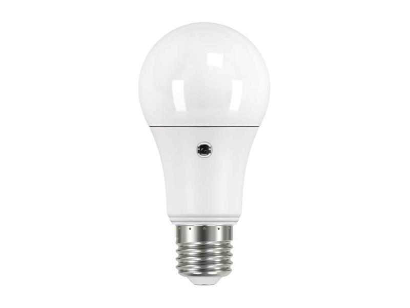 Žárovka LED E27  9W A60 přírodní teplá EMOS ZQ5140L(senzor denního světla)