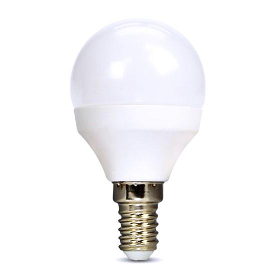 Žárovka LED E14  8W miniGLOBE bílá neutrální SOLIGHT WZ430