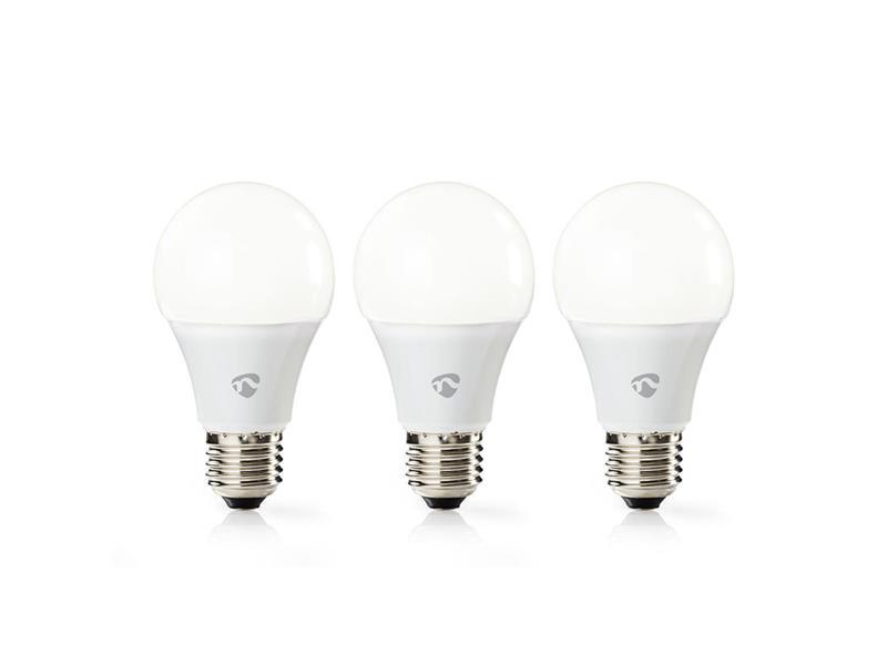 Žárovka LED E27 9W teplá bílá NEDIS WIFI 3ks